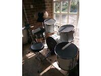 Complete drum kit for sale plus practice pads