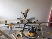 Dewalt Chopsaw,stand and Hoover