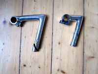 "SR & 3TTT alloy quill stems 120mm and 70mm reach, 1"" steerer, 25.4mm clamp"