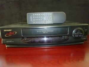 Sharp VHS Player/Recorder + Remote