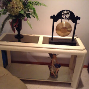 Sofa table, coffee table, two end tables