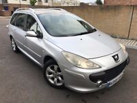 Peugeot 307 SW 1.6 HDi S 5dr,Diesel,2005 (55 reg),Estate,2 owners,panoramic roof,hpi clear