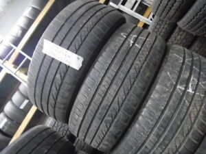 FOUR USED ALL SEASON 235-45-20 { DUNLOP } R.H AUTO