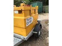 western diesel fuel bowser trailer mounted 1000 litre excavator dumper mini digger