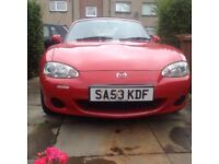 Mx5 ,mint condition, £2999 ono.53 reg.