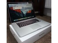 APPLE MACBOOK PRO 15 RETINA,CORE I7 2.2GHZ 4770HQ QUAD CORE,256GB SSD,16GB RAM,BOXED GOOD CONDITION