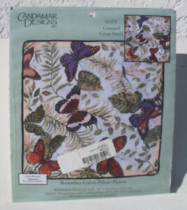 Butterflies Galore Pillow / Picture counted cross stitch
