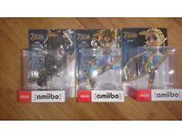 Legend of Zelda Breath of the Wild amiibo...Zelda, Rider, Archer (new & sealed)