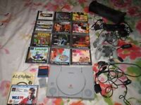 SONY PLAYSTATION ONE CONSOLE SCPH-7502 BUNDLE,12 GAMES,DEMOS,2 CONTROLLERS