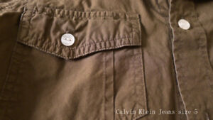 Calvin Klein Jeans short sleeve army color shirt- size 5T