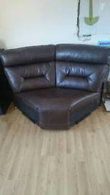 SCS endurance range leather corner piece brown EXCELLENT CONDITION