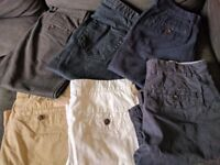 Linea/Next men's chinos, jeans and shorts 32L