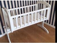John Lewis baby crib with brand new toys r us mattres