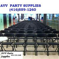 Party Supplies (chairs,tables rental)