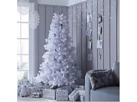 6ft White Regal Fir Premier Christmas Tree with Metal Stand, brand new Box
