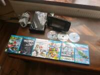 Nintendo wii u 32gb 9 games good condition