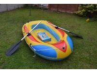 "Braver 2 man boat 78""x 46"" and paddles"