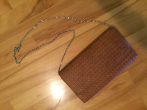 Brown purse with metal strap - brand new! - forever 21