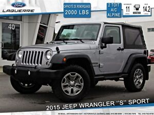 2015 Jeep Wrangler Sport S **ROUES 32''*A/C*2 TOITS**