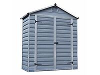 Palram SkyLight Shed 6x3ft Durable Storage – Grey