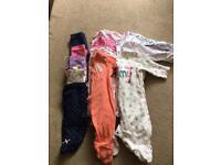Baby grow x8 5x leggings girls 0-3