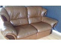Tan leather sofas 3 seater and 2 seater. Excellebt condition. Very comfortable