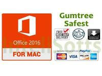 Microsoft mac office 2016/2011 professional with key (download available)