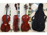 1/2 size cello with good sound.
