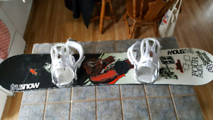 148 cm snowboard with bindings