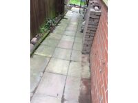 Paving patio slabs ideal for allotment