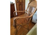 WICKER CHAIR good sturdy vintage piece GREAT CONDITION lovely unique item