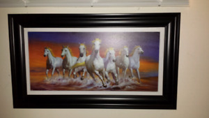 Beautiful New Running Horse's on the Beach Painting