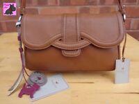 RADLEY - 'Cheadle' Tan Leather Shoulder/Crossbody Bag *Excellent*