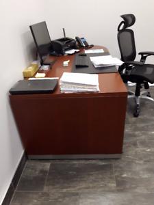 2 Piece Solid Wood Desk Set