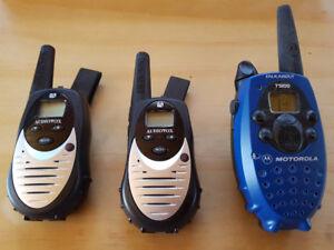 (3) Two Way Radios