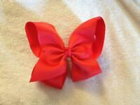 *New* 6 inch Red Hair Bow