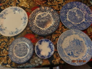 Collection of Blue & White Plates