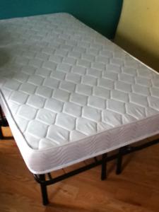Twin Bed Folding Frame Platform Spring coil Home Cottage reduced