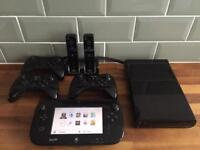 Wii U Premium Black 32GB Bundle, Great Games, Lots of Controllers. Read Description For Everything