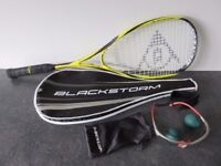 Dunlop Squash Racket, Safety Glasses and two squash balls