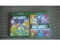 Xbox one- Just Dance! 2014 and 2015 games in excellent condition.