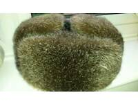 Real fur hat ( russian) new