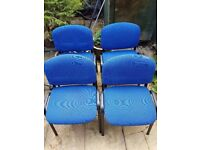 for sale 4 chairs on waiting room