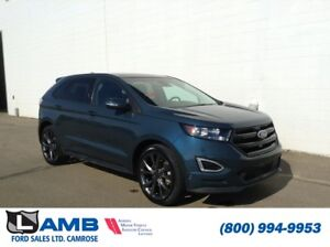 2016 Ford Edge Sport AWD with Heated Steering Wheel, Enhanced Pa