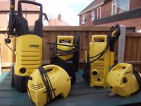 5 x karcher pressure washers large joblot