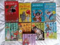 Books for older kids- 5 Mr Gum books and 4 by David Walliams (Gangsta Granny / Mr Stink / Ratburger)