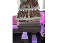 Professional Jane Iredale makeup and stand! All tester makeup in great condition!