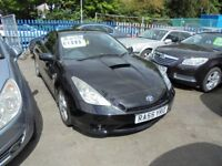 TOYOTA CELICA 1794cc VVTI 2 DOOR COUPE 2005-55, BLACK, 2 FORMER KEEPERS, LOADS OF SERVICE HISTORY