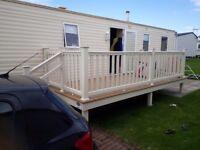 3 bedroom modern caravan with veranda to hire
