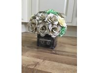 Music themed wedding centrepieces